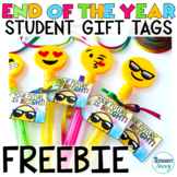 End of the Year Gift Tags for Students - Emoji Style FREEBIE