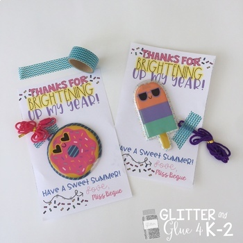 End of the Year Gift Tags for Your Sweet and Bright Students!