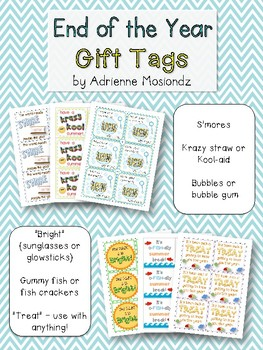 End of the Year Gift Tags! {kool-aid, bubbles, s'mores}