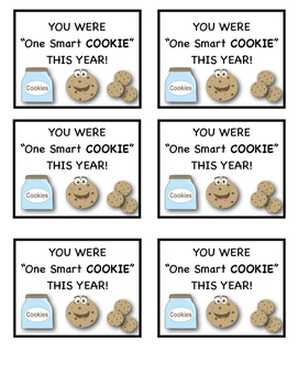 photograph regarding You're One Smart Cookie Printable identify Youre A person Sensible Cookie Tag Worksheets Coaching Materials TpT