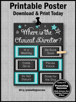 End of the Year Gift for Clinical Director, Office Door Sign