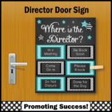 End of the Year Gift for Director Office Door Sign, NOT EDITABLE