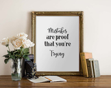 Inspirational Poster:  Mistakes Are Proof that You're Trying