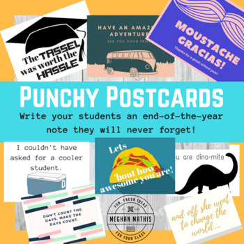 End of the Year Gifts - Notes to Your Secondary Students