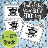 End of the Year Glow Stick Tags