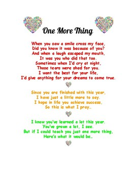 End of the Year Goodbye Poem to inspire your students   TpT