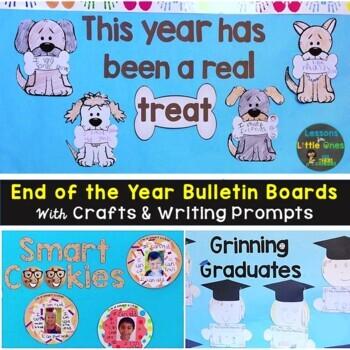 End of the Year, Graduation Bulletin Board & Craftivities Kit - 3 Ideas