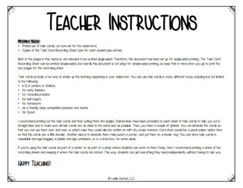 Spring and End of the Year Grammar Task Cards for Test Prep and Review