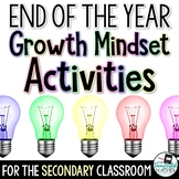 End of the Year Growth Mindset Activities