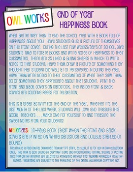 End of the Year Happiness Book