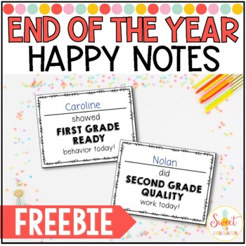 End of the Year Happy Notes