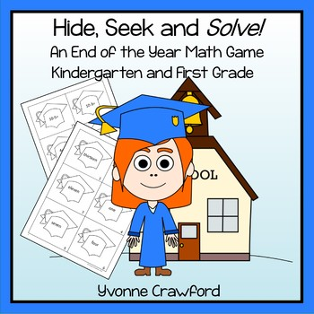 End of the Year Math Game - Hide, Seek and Solve (kindergarten and 1st grade)