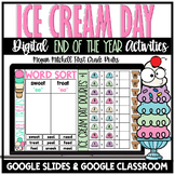 End of the Year Ice Cream Theme Day Activities | Distance