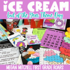 End of the Year Activities ~ Ice Cream Day!