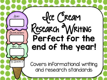 End of the Year Ice Cream Research Writing