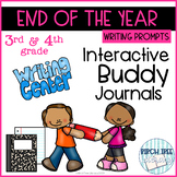 End of the Year Interactive Buddy Journal Writing Prompts for 3rd & 4th grades