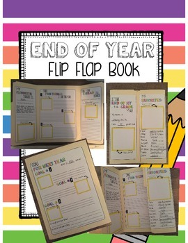 End of the Year Interactive Flip Flap Folder Book