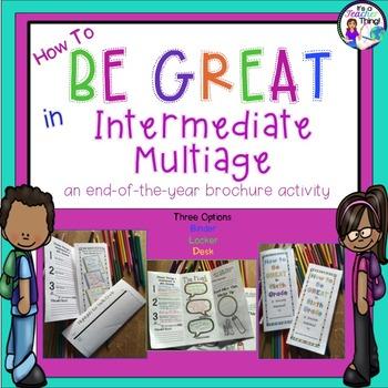 End of the Year Intermediate Multiage Brochures Bundle