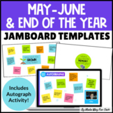 End of the Year Jamboard | Autograph Signing Pages | End of the Year Countdown
