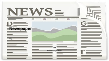 End of the Year Newspaper Presentation Template (for journalism unit)