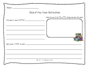 FREE - End of the Year K-2 Writing reflection
