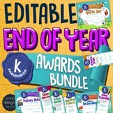 End of the Year KINDERGARTEN Student Superlative Awards BUNDLE