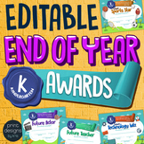 End of the Year KINDERGARTEN Student Superlative Awards Certificates