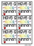 "End of the Year ""KOOL"" Summer gift tags"