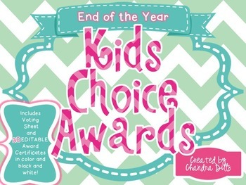 End of the Year Kids Choice Awards- Mint and Pink Version