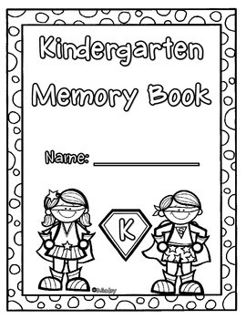 End of the Year Kinder (superhero) Memory Book