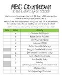 End of the Year Kindergarten Countdown (ABC Activities)