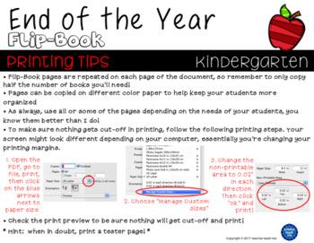 End of the Year – Kindergarten - Flip-Book