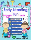 Morning Work Review!  Sight Words Phonics Math Kindergarten