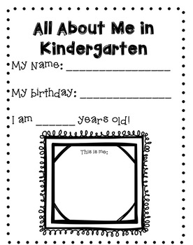 End of the Year Kindergarten Memory Book