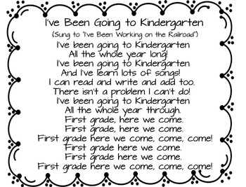End of the Year Kindergarten Songs (Two pocket chart songs)