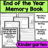 End of the Year Kindergarten Writing Review Memory Book