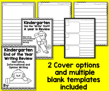 End of the Year Memory Book - Kindergarten Writing Review