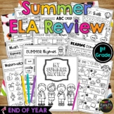 End of the Year LITERACY REVIEW Summer Packet 1st Grade ELA No Prep Printables