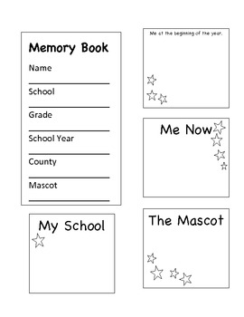 End of the Year Lap Book - Book of Memories