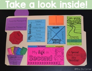 End of the Year Activity - Memory Book Lapbook ( Grades K - 6 )