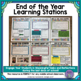 End of the Year Learning Stations for Middle School with E