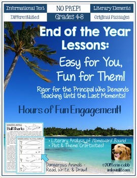 End of the Year Activities: Easy for You, Fun for Them! NO PREP 4th-8th CCSS