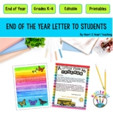 End of Year Letter to Students - End of the Year Letter to