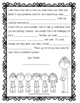 End of the Year Letter Writing