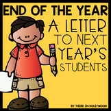 End of the Year- Letter to Next Year's Students