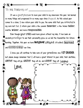end of the year letter to parents from end of the year letter to p by surf s up in 22349