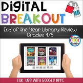 End of the Year Library Review - Digital Breakout Gr. 4/5