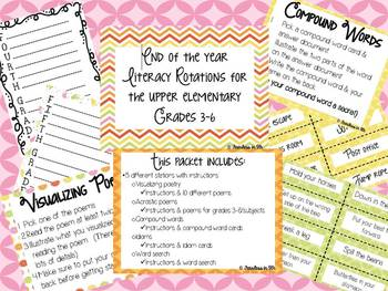 End of the Year Literacy Rotations - Upper Elementary