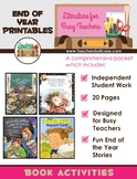 End of the Year Literature- Printables for Busy Teachers