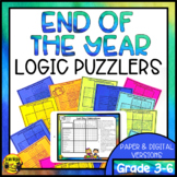 End of the Year Logic Puzzles